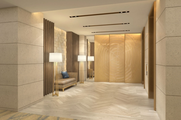 Palm Beach Luxury Resort Lobby Elevator