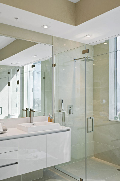 Amrit luxury residences master bath rain shower