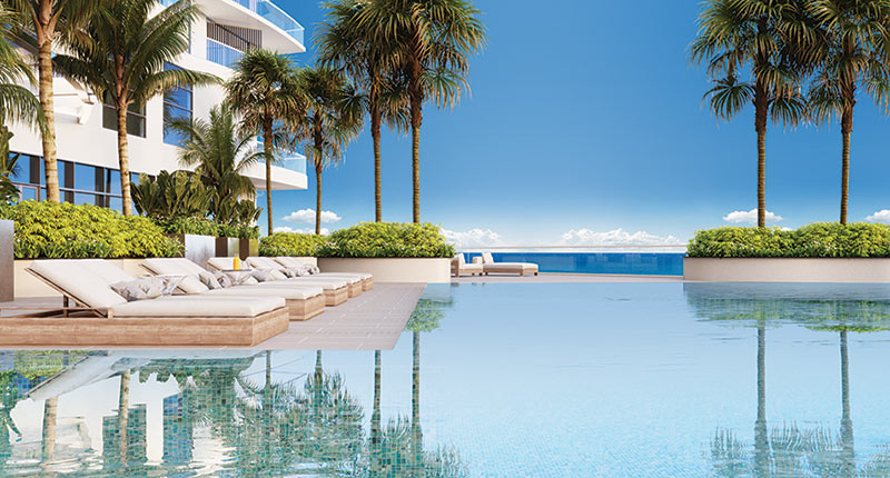 Infinity oceanfront resort pool