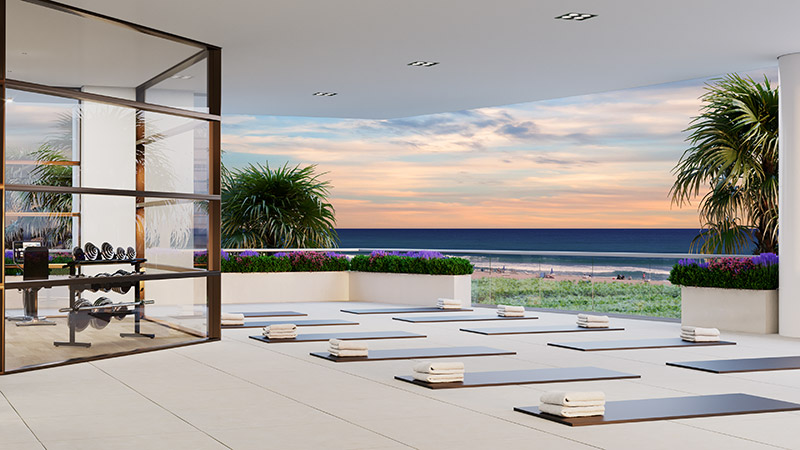 Amrit resort oceanfront yoga and fitness terrace